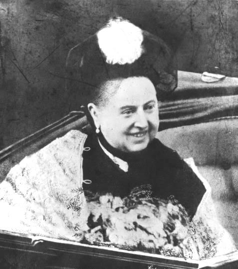 Queen Victoria smiling