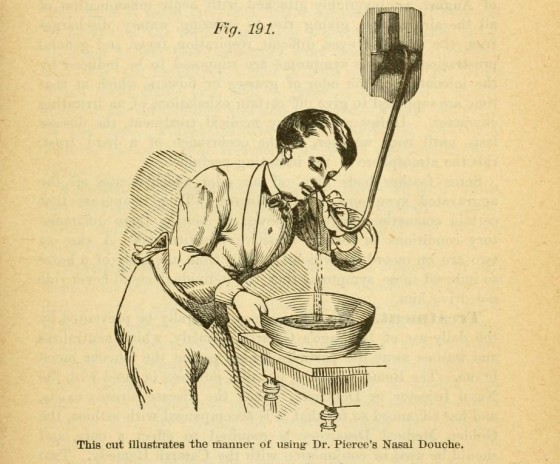 3. Pierce's Nasal Douche - The People's Common Sense Medical Adviser, 1890