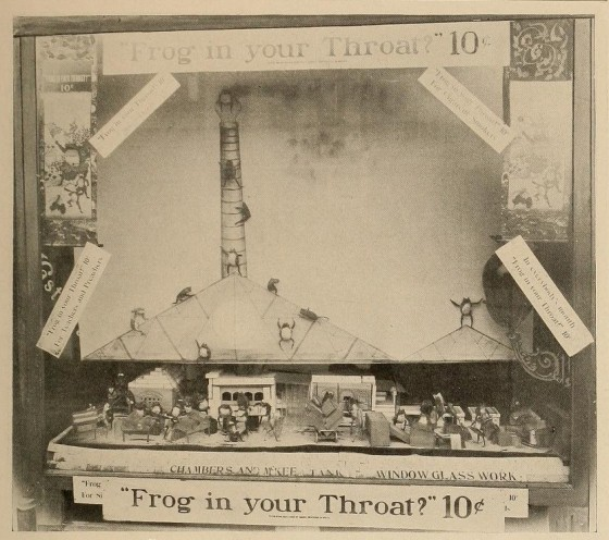 5. Frog in your throat - window display