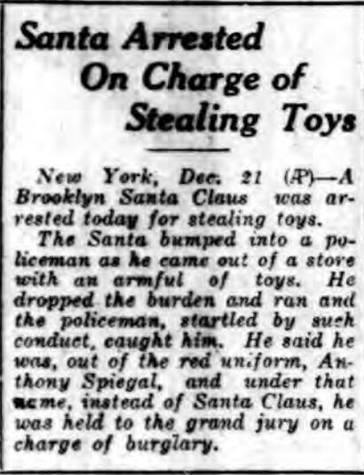 Toy thieving Santa