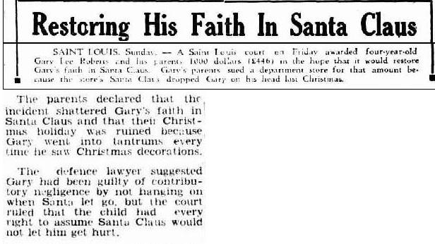 Suing Santa