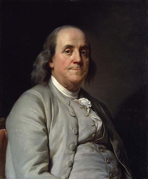 Portrait of Benjamin Franklin.