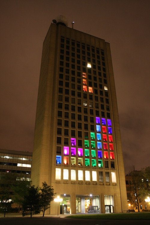 MIT turned a building into a game of Tetris in 2012.