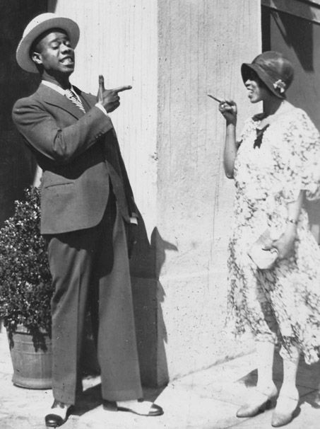 Louis and Lil Hardin Armstrong, Hollywood, c.1930