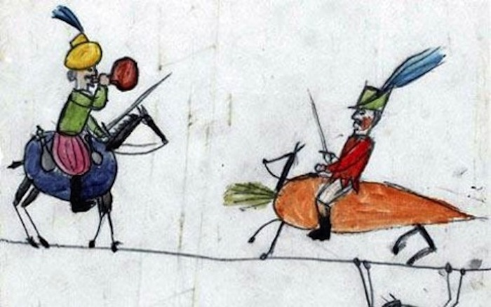 A drawing by a Darwin child in On the Origin of the Species.