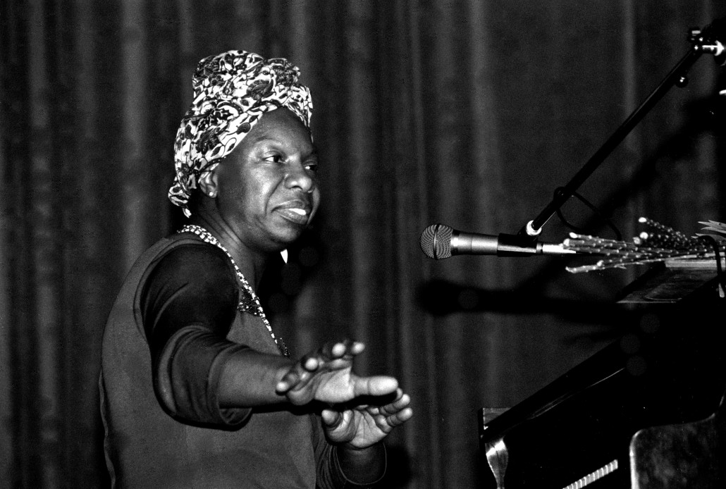 Nina Simone at the piano