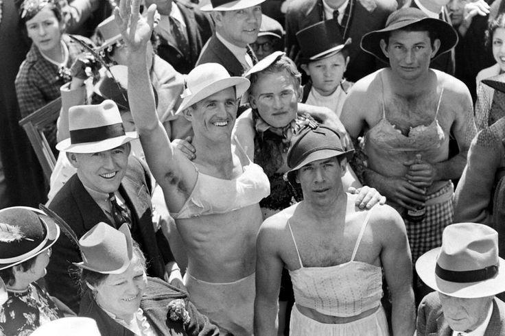 Mardi Gras revelers, New Orleans, Louisiana 1938