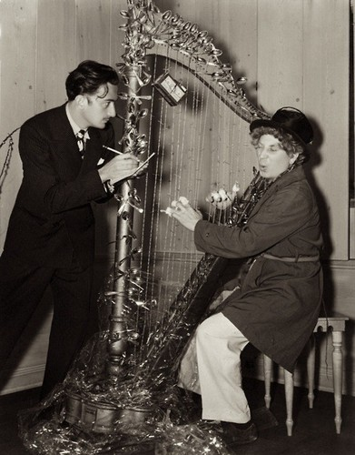 Dali and Harpo Marx, 1936