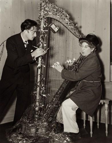 Dali and Harpo Marx, 1936