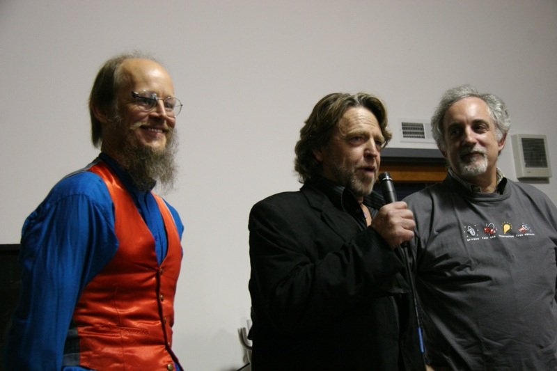 John Gilmore, John Perry Barlow and Mitch Kapor