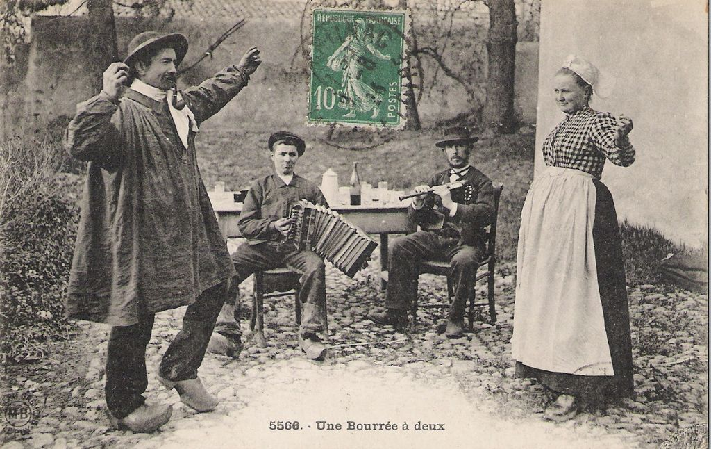 Bourrée dance, France c. 1906