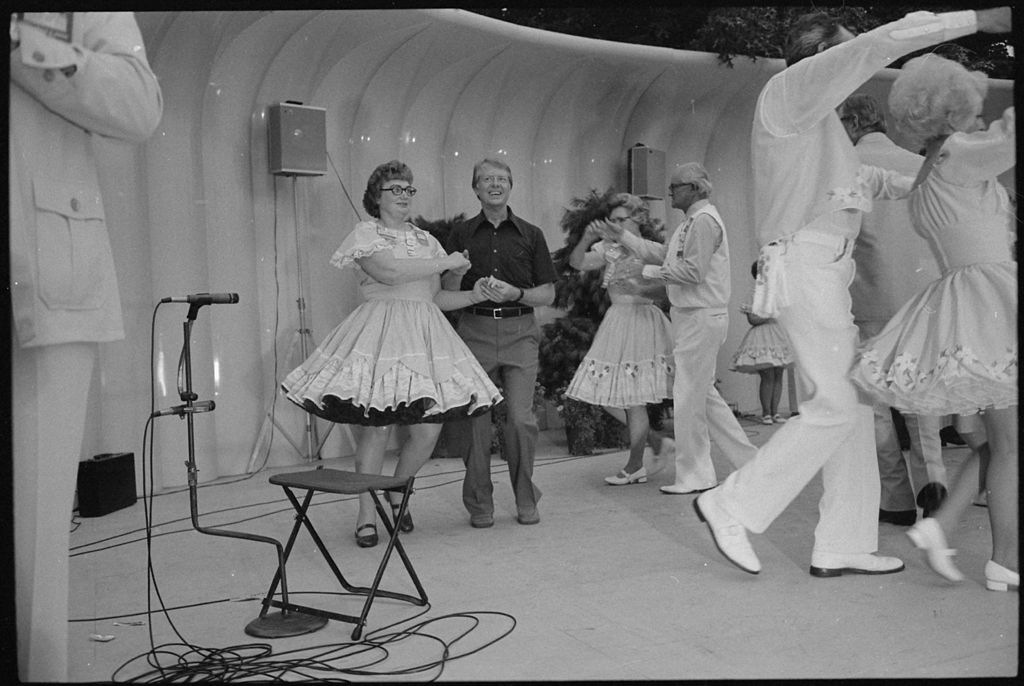 Jimmy Carter squaredance, 1977