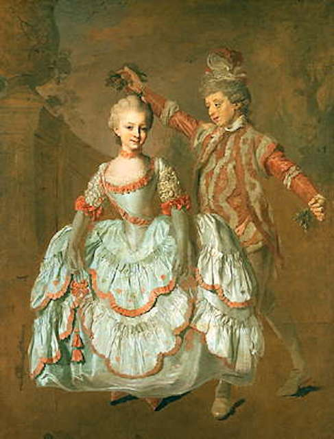 Dancing children by Lorens Pasch the Younger, 1760