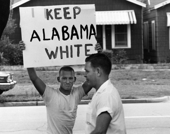 racist-student-montgomery-high-school-protests-integration-1963-keep-alabama-white-by-flip-schulke