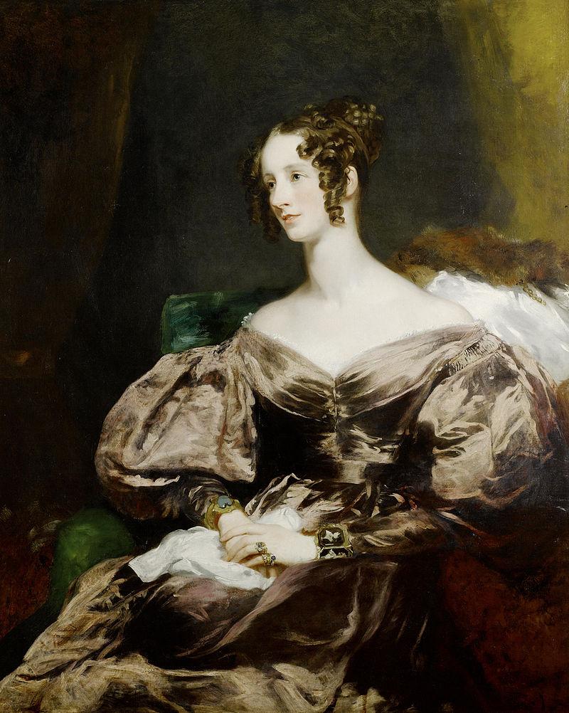 Victorian hairstyles, Lady Harriet Georgiana Brudenell