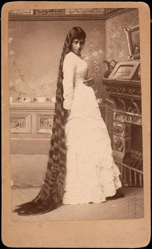 Victorian hairstyles, long 1